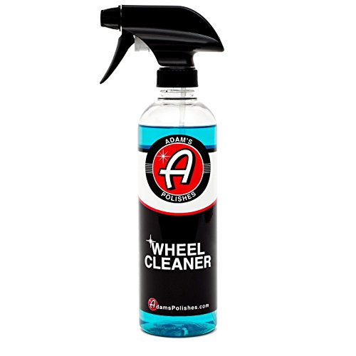 Adam's Deep Wheel Cleaner 16oz - Tough on Brake Dust, Gentle On Wheels - Changes Color As It Works (And Polish Cleaner Car)