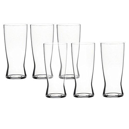 Spiegelau Barrel Beer Classics Lager Glass, Set of 6 in Barrel Gift Tube