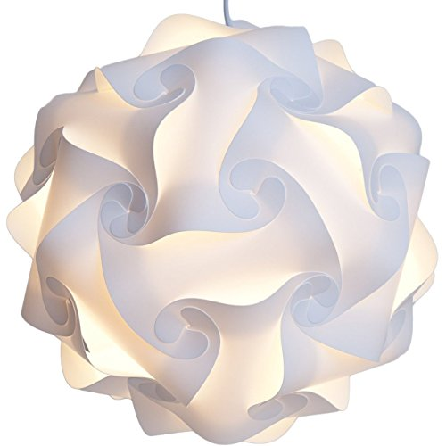 Sorive Ceiling Pendant DIY IQ Jigsaw Puzzle Lamp Shade Kit with 40 Inch Hanging Cord,PUZZLE LIGHTS Lamp Shade by Sorive (Medium-12'' 30cm, (Hanging Ceiling Decor)