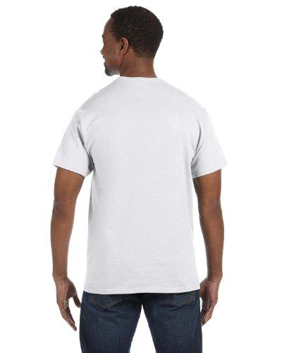 Hanes White Oxford (Hanes Mens Tagless 100% Cotton T-Shirt, Large, White)