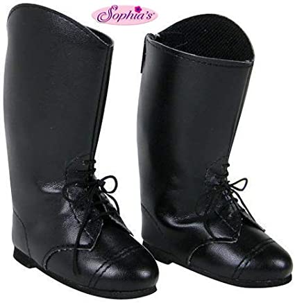 "NEW Black BUTTON BOOTS AMERICAN GIRL DOLL FITS 18/"" DOLLS"