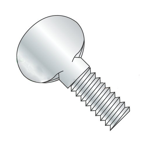 1/4''-20 x 1 1/4'' Thumb Screws, Type B, No Shoulder, Steel, Zinc Plating (Quantity: 100 pcs) by Newport Fasteners