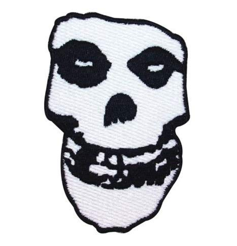 Misfits Crimson Ghost Skull Military Patch Fabric Embroidered Badges Patch Tactical Stickers for Clothes with Hook & Loop