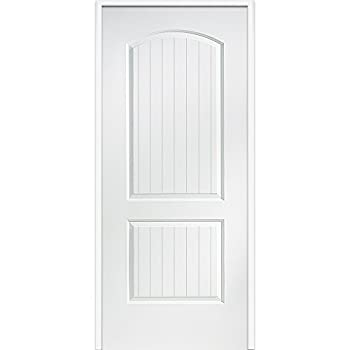 "National Door Company Za364250l Solid Core, Primed, Molded Planked 2-panel, Left Hand, Prehung Interior Door, 30""x80"" 0"