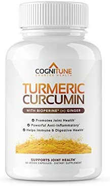 Organic Turmeric Curcumin Supplement with BioPerine Black Pepper Extract Ginger – Premium Natural 95 Curcuminoids – Extra Strength Anti-Inflammation, Joint Support, Pain Relief Pills – 60 Capsules
