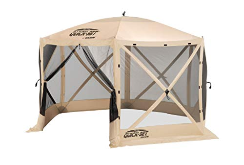 - Clam Quick-Set Escape Portable Outdoor Gazebo Canopy, Tan