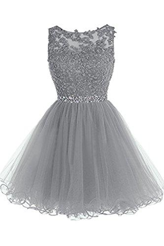 ivyd ressing Donna Sweetheart Girocollo Pizzo Mini Party Festa Prom abito a linea vestito abito da sera vestito argento 44