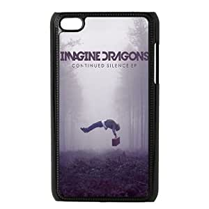 Durable Hard cover Customized TPU case Imagine Dragons Continued Silence iPod Touch 4 Case Black