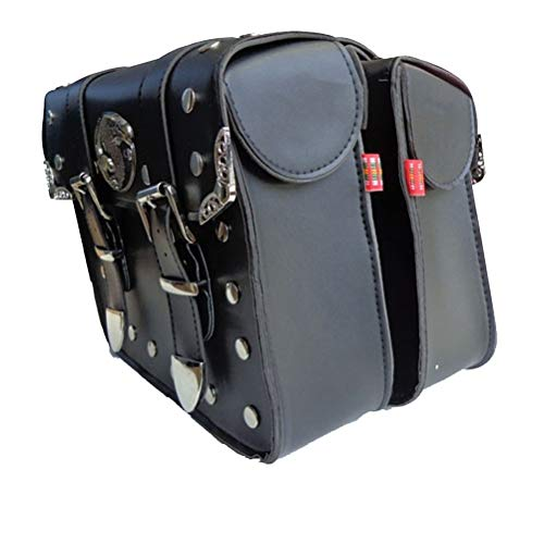 Takuey New 2 x Universal Motorcycle Saddlebags Waterproof Motorbike Side Bag Tool Bags Left /& Right Pouch Black