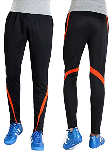 Allenamento Per Jogger Calcio In Con Pantaloni Uomo Palestra Elasticizzati Arancione Sportivi Da Salotto Leggeri Swisswell Tasca Sport Poliestere w8Ovxqa