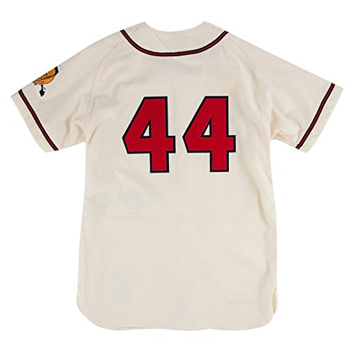 Hank Aaron Milwaukee Braves Mitchell   Ness Authentic MLB 1957 Home Jersey  durable modeling 4a1ca3350