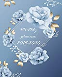 Monthly Planner 2019-2020: Calendar Monthly Schedule Organizer with Florals Blue Cover (2019-2020 calendar planner)