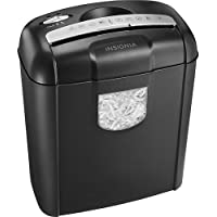 Insignia NS-PS06CC 6-Sheet Cross-Cut Paper / Credit Card / Staples Shredder (Black)
