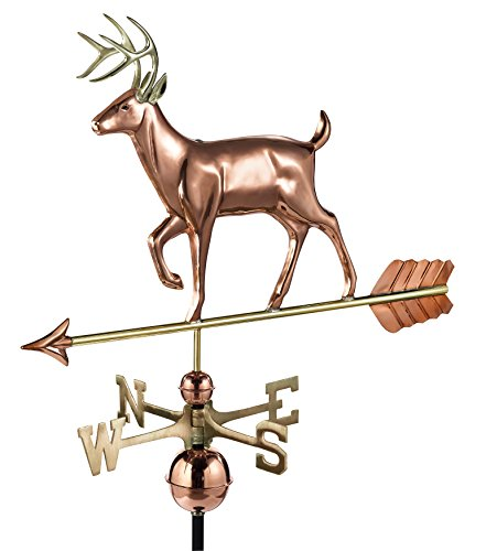- Good Directions White Tail Buck/Deer Weathervane, Pure Copper, Rooftop, Roof Décor, Wildlife
