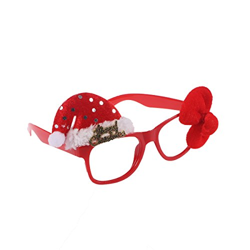 Tinksky Christmas Fancy Dress Funny Glasses Frame Santa Claus Hat Sunglasses Christmas Costume Ornaments Party Decoration Gifts Glasses Without (Funny Santa Hat)