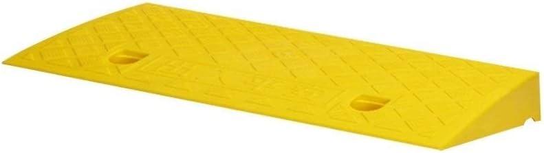 YJYLJ Umbral Rampas 5cm, Plástico Amarillo/Negro Paso Antideslizante Almohadilla Portátil Triángulo Pad Familia Escaleras Rampas para Sillas De Ruedas (Color: Amarillo, Tamaño: 49 * 22 * 5cm)