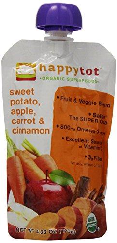 Happy Tot Organic Baby Food Sweet Potato Apple Carrot Amp