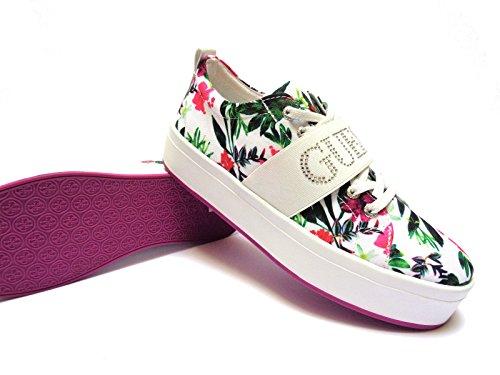 Guess , Damen Sneaker mehrfarbig Bianco multicolor 41