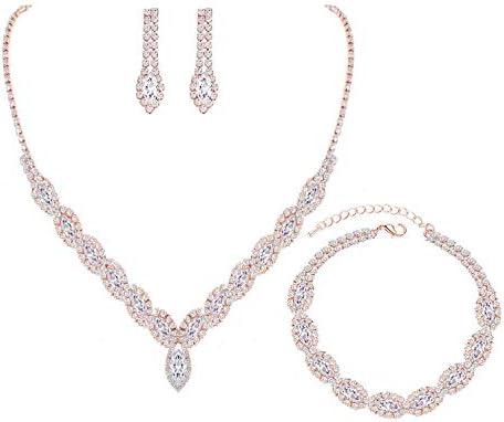 diamante necklace choker proms wedding party silver 6195-1 NEW