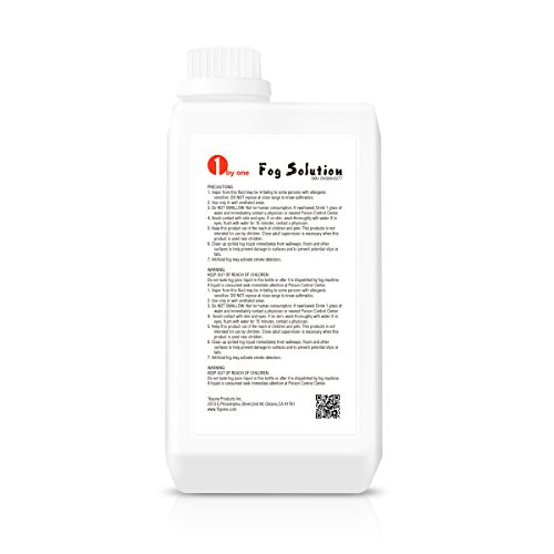 [1byone 0.264 Gallon (1000ml) Fog Juice Fluid for Water Based Fog Machines] (Small Fog Machines)