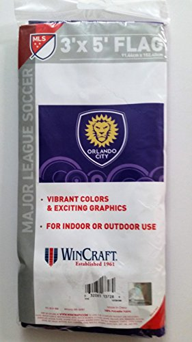 Orlando City Soccer Outdoor Flag - 3' x 5' - MLS Soccer - WinCraft - NEW by WinCraft