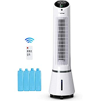 COSTWAY Evaporative Cooler- Oscillating Air Cooler with LED Display- Remote Control- 125 Square Foot Cooling, 8-Hour Timing Function, for Home & Office, Cooling & Humidification Function (41-Inch)