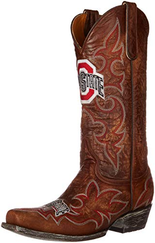 NCAA Ohio State Buckeyes Men's Gameday Boots, Brass, 8 D (M) US