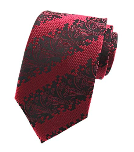 Men's Narrow Novelty Red Black Tie Adult Formal Self Necktie Father's Day gifts