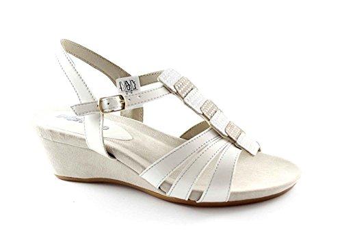 sandalias MELLUSO K95013 ghiccio zapatos zeppetta diamantes de imitación Grigio