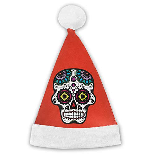 (Sugar Skull Clipart Christmas Decorations Xmas Hat - Feast Santa Claus'Cap)