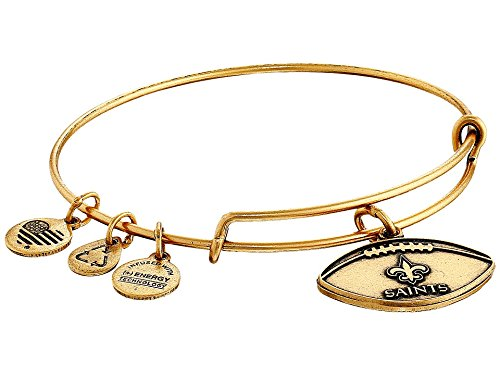 Alex and Ani Women's NFL New Orleans Saints Football Bangle Rafaelian Gold One Size