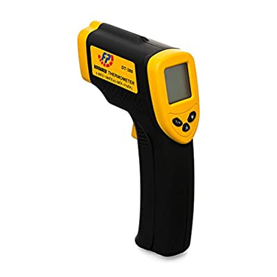Footopian Lasergrip Dual Laser Non-Contact Instant Digital Readout Thermometer Infrared Digital Temperature Gun Temperature Range -58°F~716°F DT8380 Black and Orange