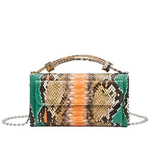 Leather Bag Python Pattern Handbag Luxury Brand Snakeskin Day Clutch Designer Shoulder Cross Body Bag In Top,Colour 5,(20Cm-Max Length-30Cm)