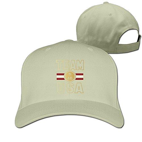 [Unisex Team USA Stripe Medal 46 Gold Medals Olympics Peaked Hat Baseball Cap] (Equestrian Costume Hat)