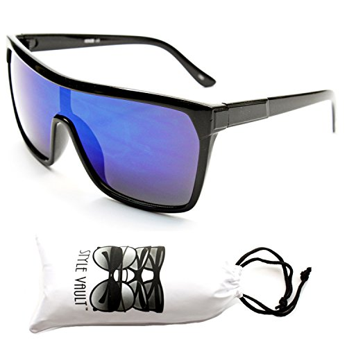 A141-vp Style Vault Turbo Sunglasses (KZ Black-Blue, - Brodie Sunglasses