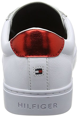 Tommy Blanc Sneaker 020 Femme Sneakers Hilfiger Basses Essential rwb ra1TqrxYw