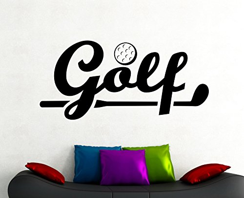 Golf Sign Wall Decal Vinyl Sticker Sports Art Home Interior Decorations Room Golfing Club Decor (Themes For Golf Tournaments)