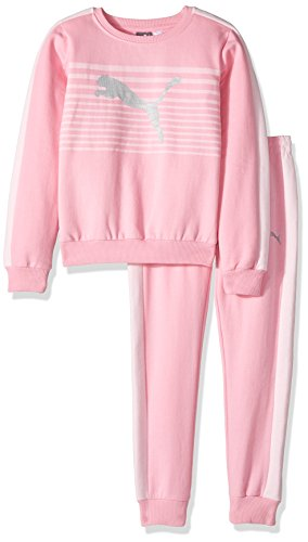 PUMA Little Girls' Two Piece Fleece Set, Petal Pink, 6 Image