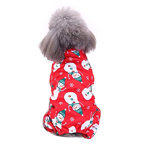 Pet Supply - Cool Cute Pet Cosplay Costume Dog Pet Costume Clothing Halloween Skull Christmas Snowman Pattern T Shirt Apparel Teddy Clothes]()