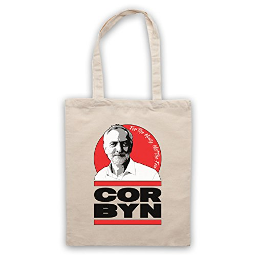 Jeremy Corbyn For The Many Not The Few Labour Leader Tote Bag Natural