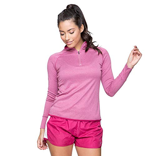 Colosseum Womens Bailey Long Sleeve Quarter Zip Wind Shirt Sangria - L