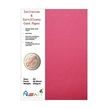 Amazon Com 20pce Pink Watermark Certificate Invitation