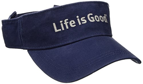 Life Is Good A Visor Lig Branded Dstblu, Darkest Blue, One Size