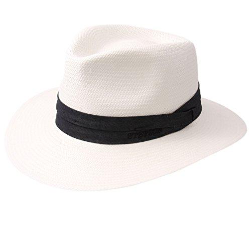 Stetson Jefferson Panama Bleached Fedora Hat Size S by Stetson