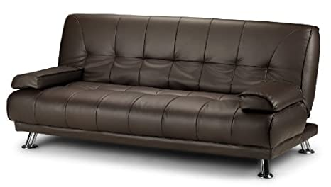 Astonishing Stunning 3 Seat Designer Sofa Bed Faux Leather Chrome New Black Cream Brown Brown Camellatalisay Diy Chair Ideas Camellatalisaycom