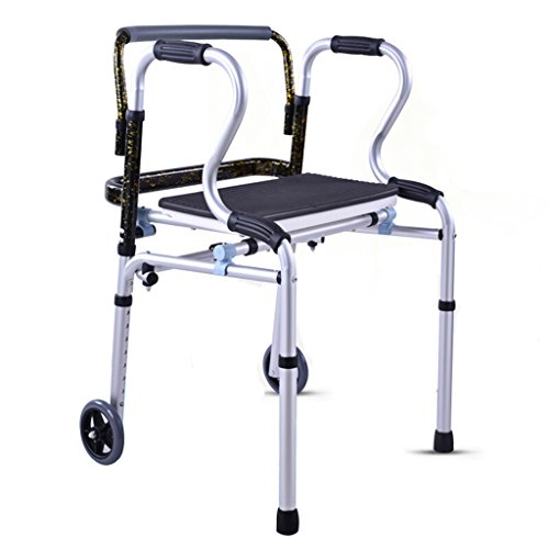 JPXZMYY Shower Chair, with Pulley Collapsible Adjustable Height Walker Bath Chair Leisure Chair Safety ()