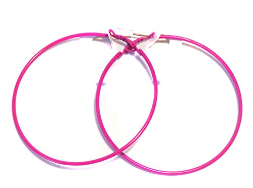 Hot Pink Hoop Earrings Simple Thin Hoop Earrings