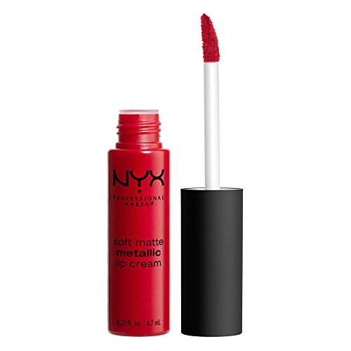 NYX PROFESSIONAL MAKEUP Soft Matte Metallic Lip Cream, Monte Carlo, 0.22 Ounce -