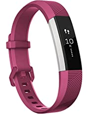 BarRan Regen; Fitbit Alta and Alta HR fitnessarmband, zacht, verstelbaar, fitnessaccessoire met metalen sluiting voor Fitbit Alta en Alta HR