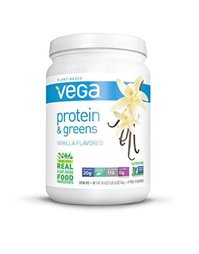 Vega Protein & Greens, Vanilla, 1.16 lb (18 Servings)